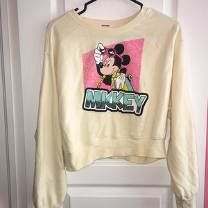 Garage Mickey Mouse Vintage Looking crop sweater